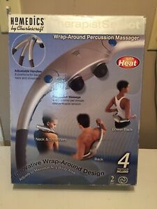 Massager wrap-around percussion with heat