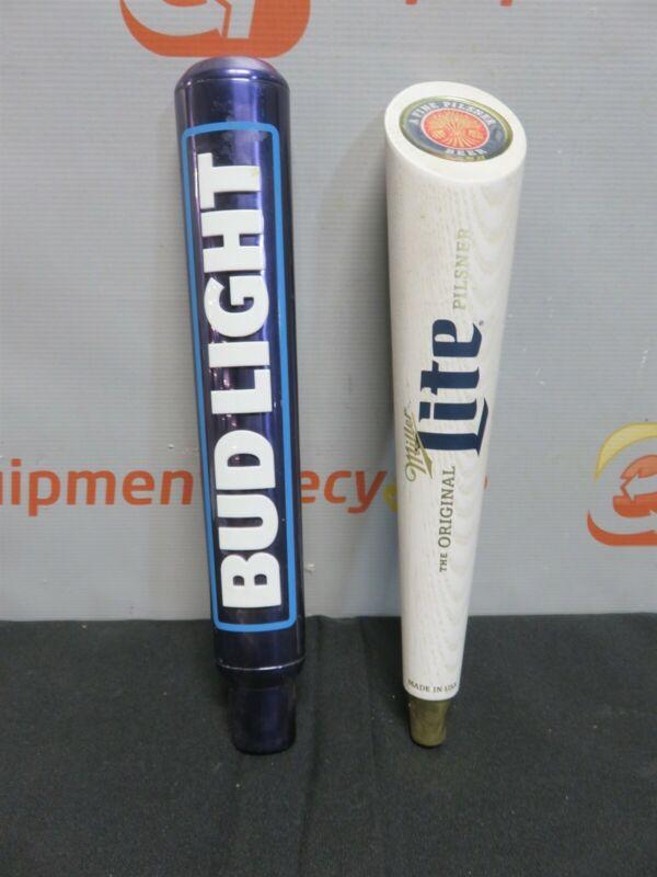 Bud Light Miller Lite Beer Tap Keg Pull Handle Draft Man Cave