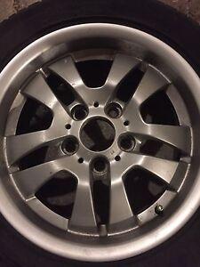 BMW 3 series aluminum rims and tire