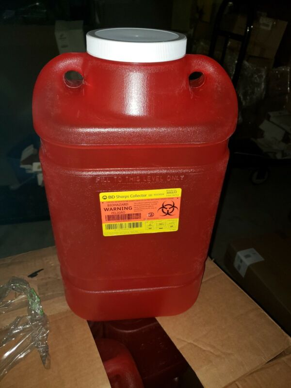 BD 5 Gallon Sharps Needle Container Collector 305577 Red (CASE OF 8)