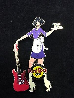 Martini Guitar - OSAKA UNIVERSAL CITYWALK MARTINI WAITRESS WITH GUITAR HARD ROCK CAFE PIN
