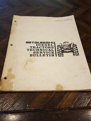 Original Mitsubishi Diesel Tractors Technical Service Bulletin 5240085tsb2