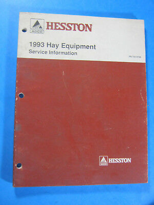 1993 Hesston Hay Equipment Service Information Manual