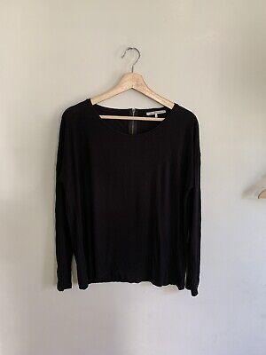 Black Dolman Sleeve (Gerard Darel Women's Long Sleeve Black Knit Top Zipper Detail Dolman Sleeve 3)