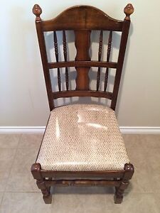 Walnut Accent Vintage Chair with Original Plastic on the Seat