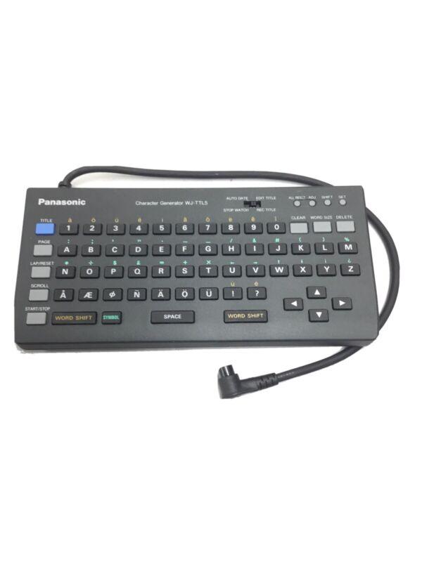 Panasonic WJ-TTL5 Character Generator Titler Video Mixer NOB