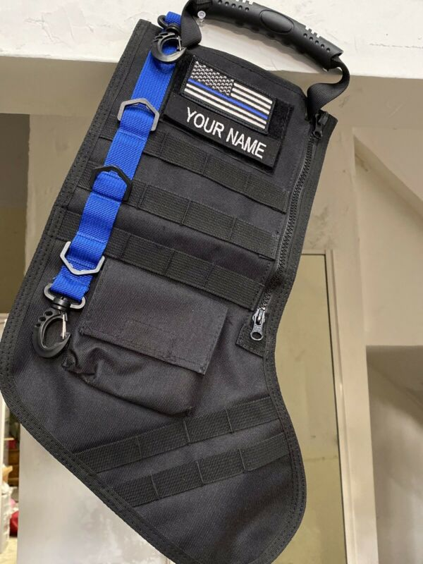 Blue Line tactical christmas stocking