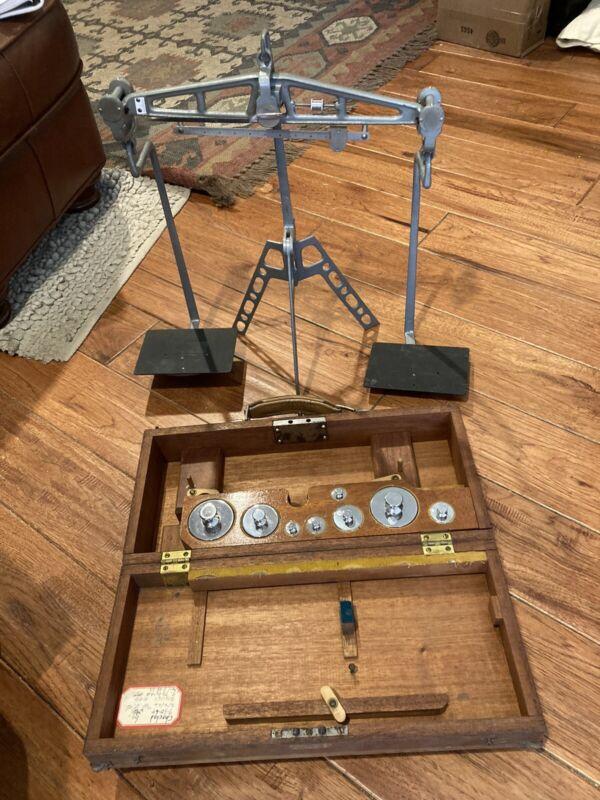 Antique Gurley Balance 2/1oz, 2oz, 4oz, 8oz, 1lb, and 2/2lb Chrome Weights