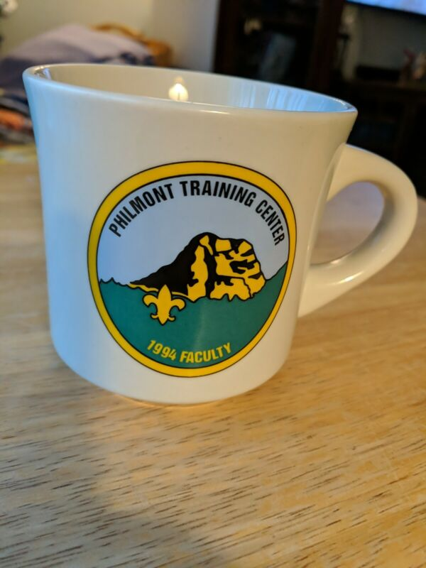 Vintage Philmont Training Center Boy Scouts of America Coffee Mug Cup Staff 1994