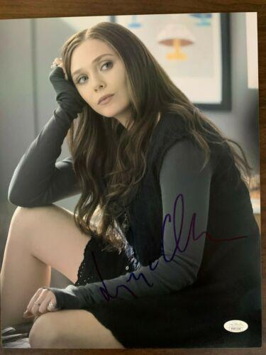 Avengers Scarlett Witch Elizabeth Olsen Autographed Signed 11x14 Photo JSA COA