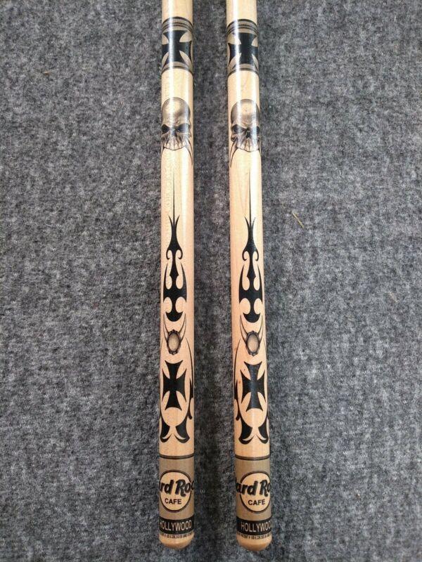 Used Hard Rock Cafe Hollywood Drumsticks Wood