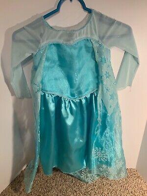 Girls Kids Frozen Princess Elsa Halloween Costume Dress - 3T-4T