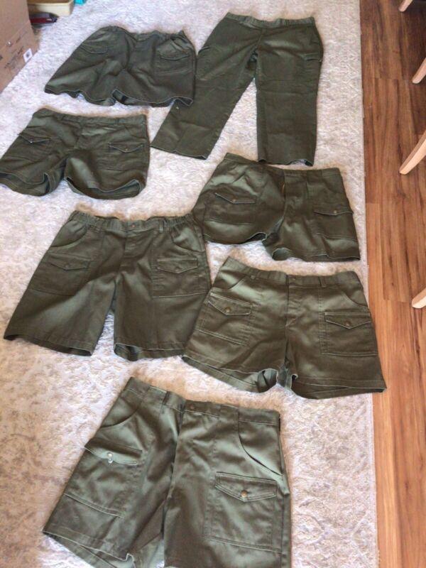 EUC Lot of 7 Size 38 Adult Leader Boy Scouts America Uniform Cargo Shorts Pants
