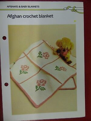 (Cozy Carriage Blanket Afghan crochet PATTERN INSTRUCTIONS FREE SHIPPING)