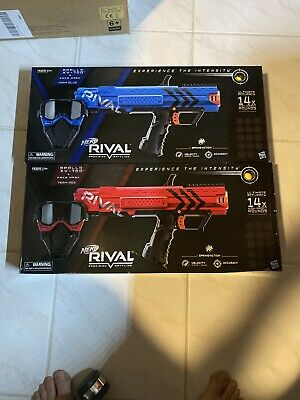 Nerf Rival Apollo XV-700 & Face Mask Team Blue and Team Red Kit Blaster 7-Round