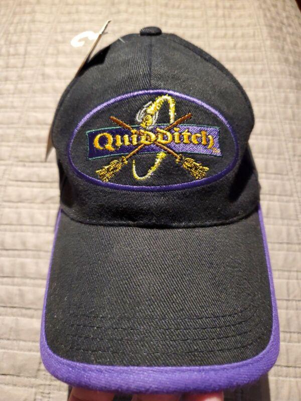 Harry Potter Quidditch Warner Brothers 2000 Black Baseball Hat Cap vintage new