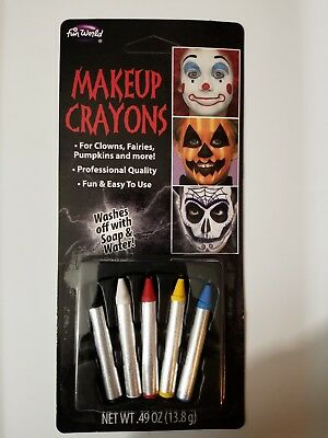 Grease Makeup (Halloween Face Grease Makeup Sticks Crayons Multicolor Pack Theatrical Stage)