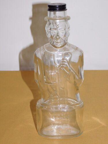 """VINTAGE 1952  9 3/4"""" HIGH LINCOLN GLASS BANK BOTTLE"""