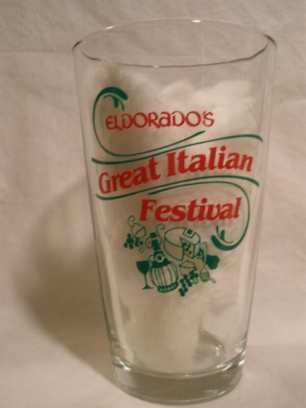 "ELDORADO'S HOTEL/CASINO RENO NV ""GREAT ITALIAN FESTIVAL"" PINT GLASS"