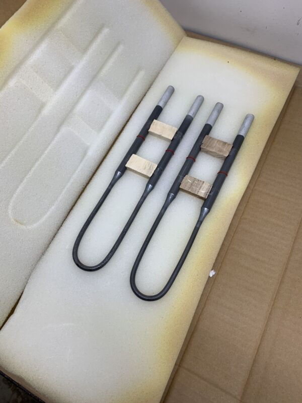 2 pcs, 1800 Mosi2 Electric Heating Elements, 50x300mm, Furnace, Sintering USA