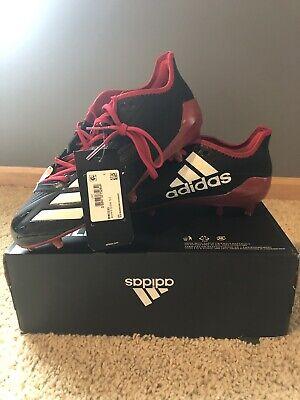 Adidas Adizero 5-Star 6.0 Low Football Cleats Black/Red BW0333 Size 9