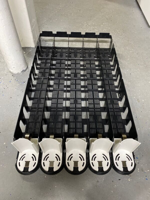 5 Row Vending Beverage Bottle Can Organizer Shelf Rack, RTC EcoTrac