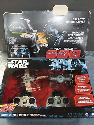 Star Wars X-WING VS TIE FIGHTER DRONE BATTLE SET Air Hogs Remote Control