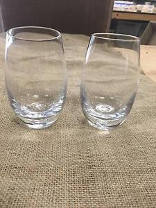 Heavy based glass hand blown tumblers - Rustic Country Wedding Dural Hornsby Area Preview