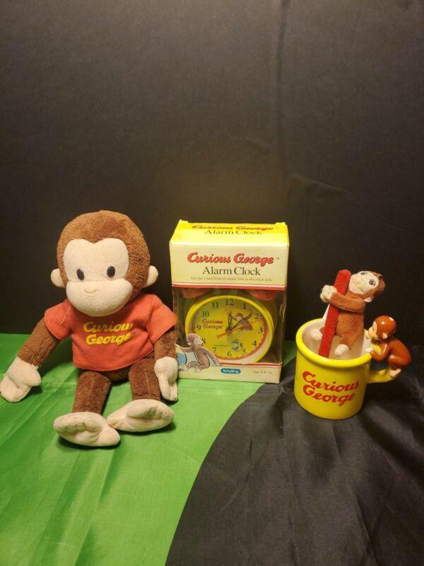 Curious George Alarm Clock And Cup Bundle