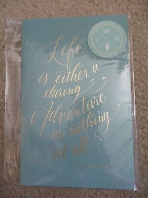 Inkwell Press - Sewn Notebook With Gold Writing On Cover Helen Keller Quote