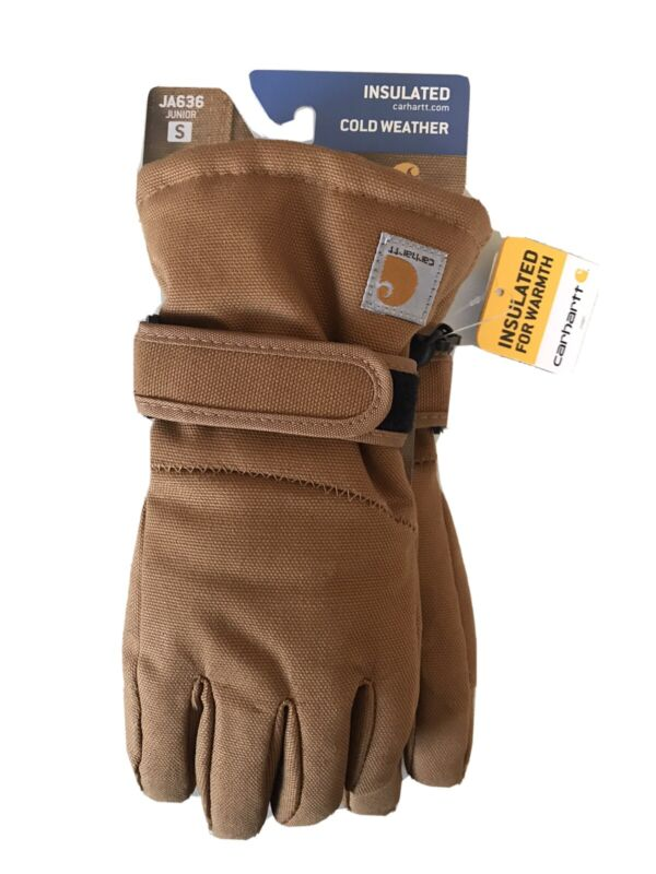 Carhartt Junior Duck Gloves Insulated Cold Weather JA636 Youth Small
