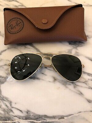 Ray Ban Gold Aviator Small Metal Frame With Case - Made In Italy