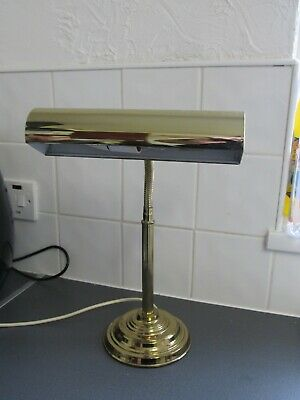 Vintage Traditional Bankers Desk Lamp Brass Working