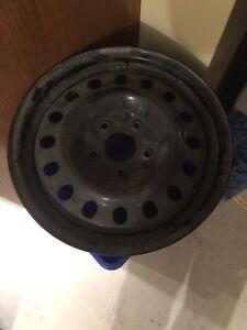 4- black steel winter wheels 17x7