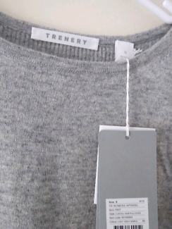 Trenery grey knit jumper - never worn - tags attached