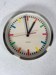 "Karlsson Wall Clock KA-4139 Color Block Stripe 9 7/8"""
