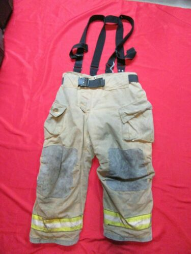 38 x 28 Cairns REAXTION Firefighter Pants W Suspenders Bunker Turnout Fire Gear