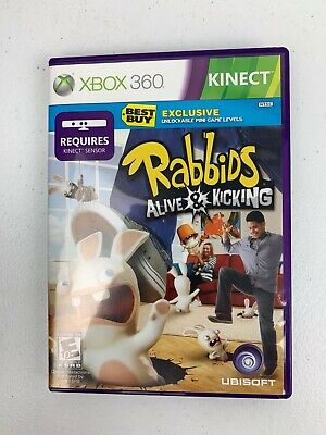 Rabbids Alive and Kicking XBOX 360 KINECT Tested Works comprar usado  Enviando para Brazil