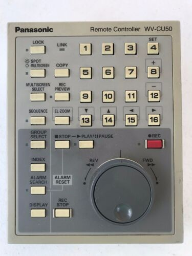 Panasonic WV-CU50 remote controller