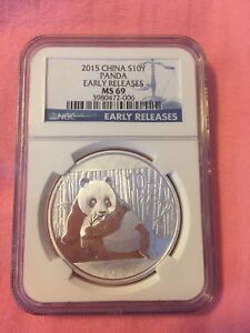 Ngc Graded Chinese panda silver coin