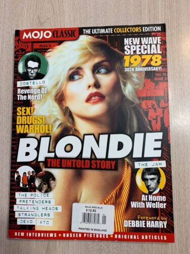 BLONDIE THE UNTOLD STORY MOJO CLASSIC MAGAZINE 1978NEW WAVE, THE JAM, SKIDS,DEVO