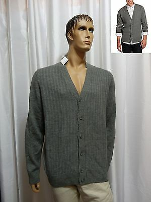 (Calvin Klein Sport mens LINKS STITCHED Merino Wool Blend Cardigan Sweater XL NEW)