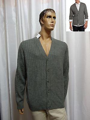 (Calvin Klein Sport mens LINKS STITCHED Merino Wool Blend Cardigan Sweater XL NEW)