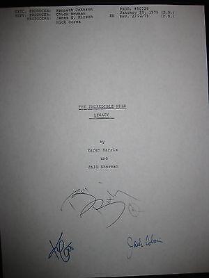 The Incredible Hulk Signed TV Script Bill Bixby Kim Cattrall Jack Colvin reprint