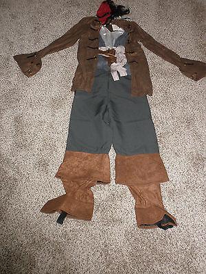 Disney Store Jack Sparrow Pirate Costume childs Medium 7/8  New - Jack Sparrow Kids Costume