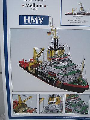 Mellum Mehrzweckschiff Schiff Kartonbausatz NEU Bastelbogen Kartonmodel