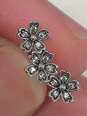 Dazzling Daisy Flower CZ stud Earrings 925 Sterling -