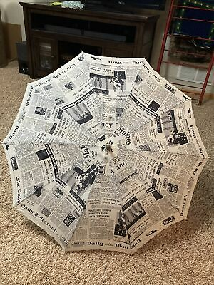 VINTAGE THE DAILY TELEGRAPH NEWS MAIL NEWSPAPER UMBRELLA ADVERTISING Horse Race