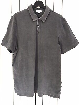 Standard By James Perse Grey distressed Supima Cotton Short Sleeve top Sz 4 XL