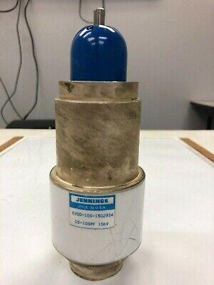 Jennings  Cvdd-100-15d2934  Vacuum Capacitor 10-100pf 15kv